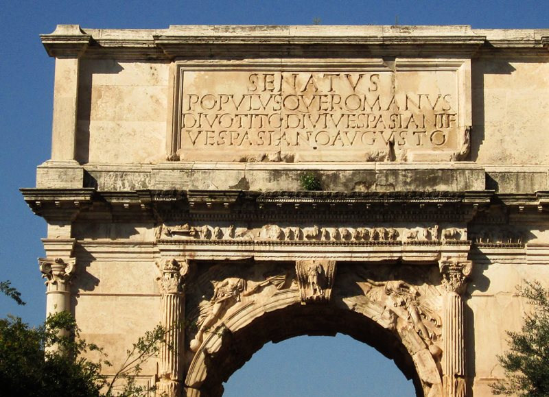 łuk tytusa rzym