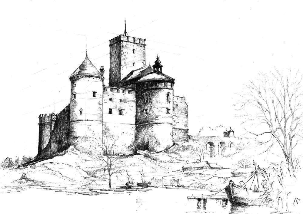 jak narysować zamek średniowieczny